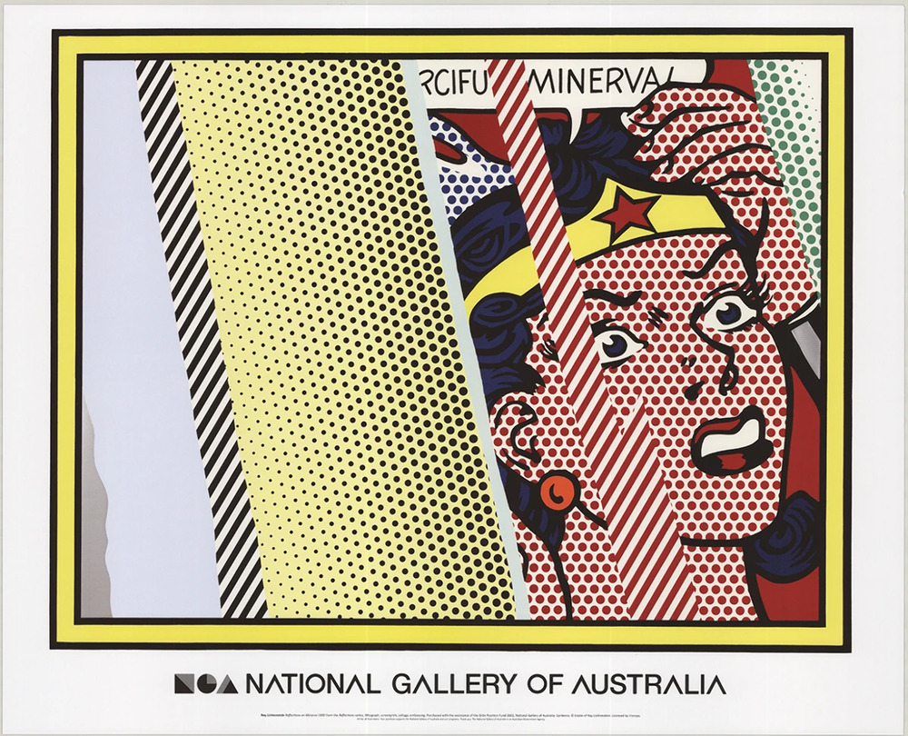 Roy lichtenstein reflections on minerva 2013 poster ebay for Poster roy lichtenstein