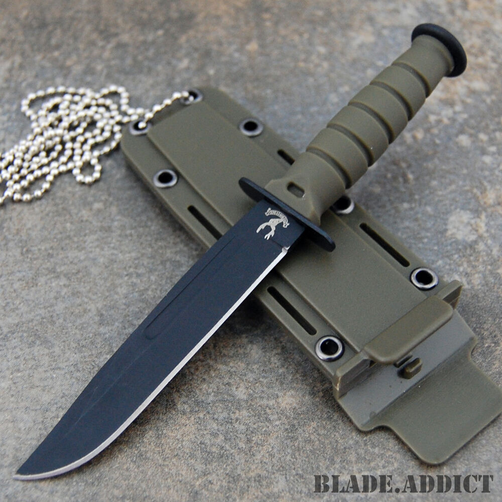 """6"""" TACTICAL BOOT COMBAT NECK KNIFE Survival Hunting BOWIE ..."""