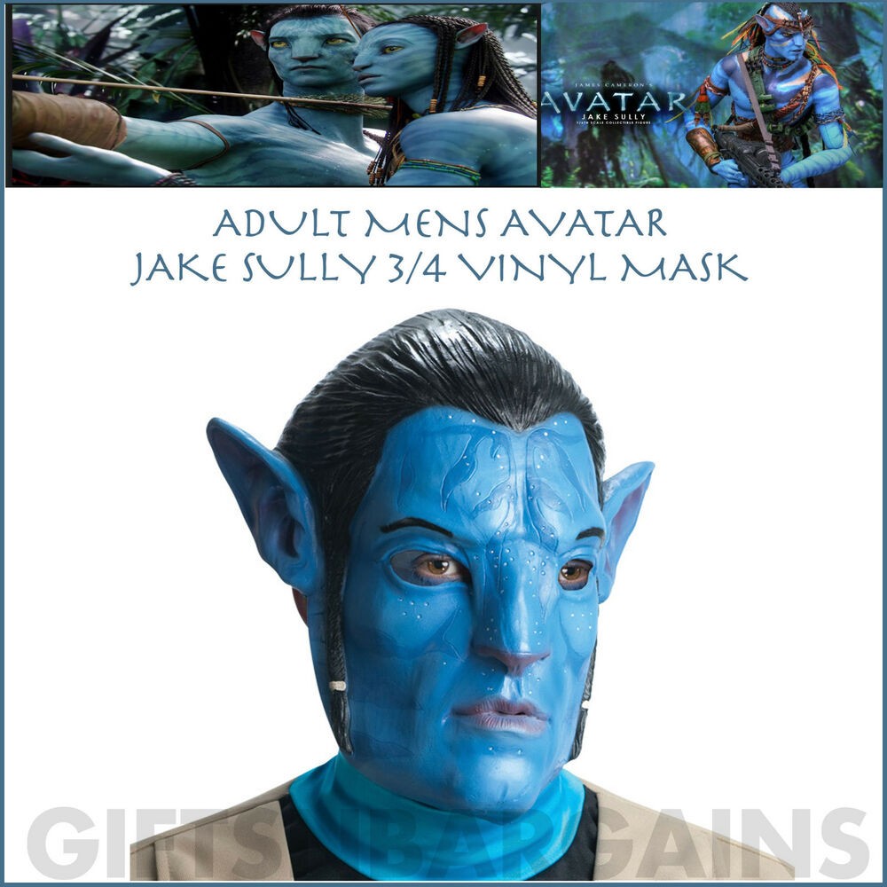 Avatar Jake: AVATAR MASK JAKE SULLY 3/4 NA'VI VINYL HALLOWEEN ADULT