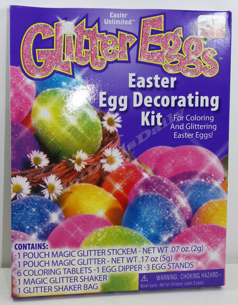 Easter unlimited glitter eggs egg decorating kit for Decoration kit