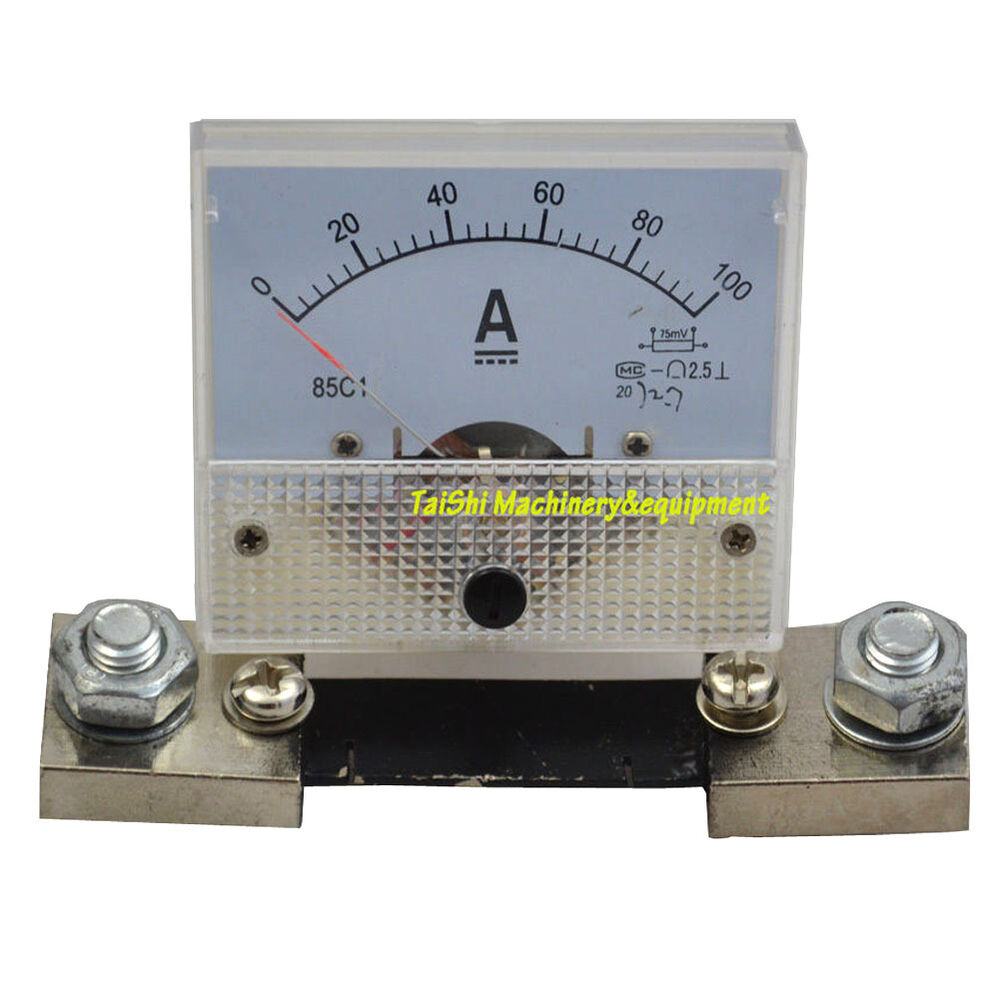Analog Panel Meter : Analog amp panel meter current ammeter c dc a