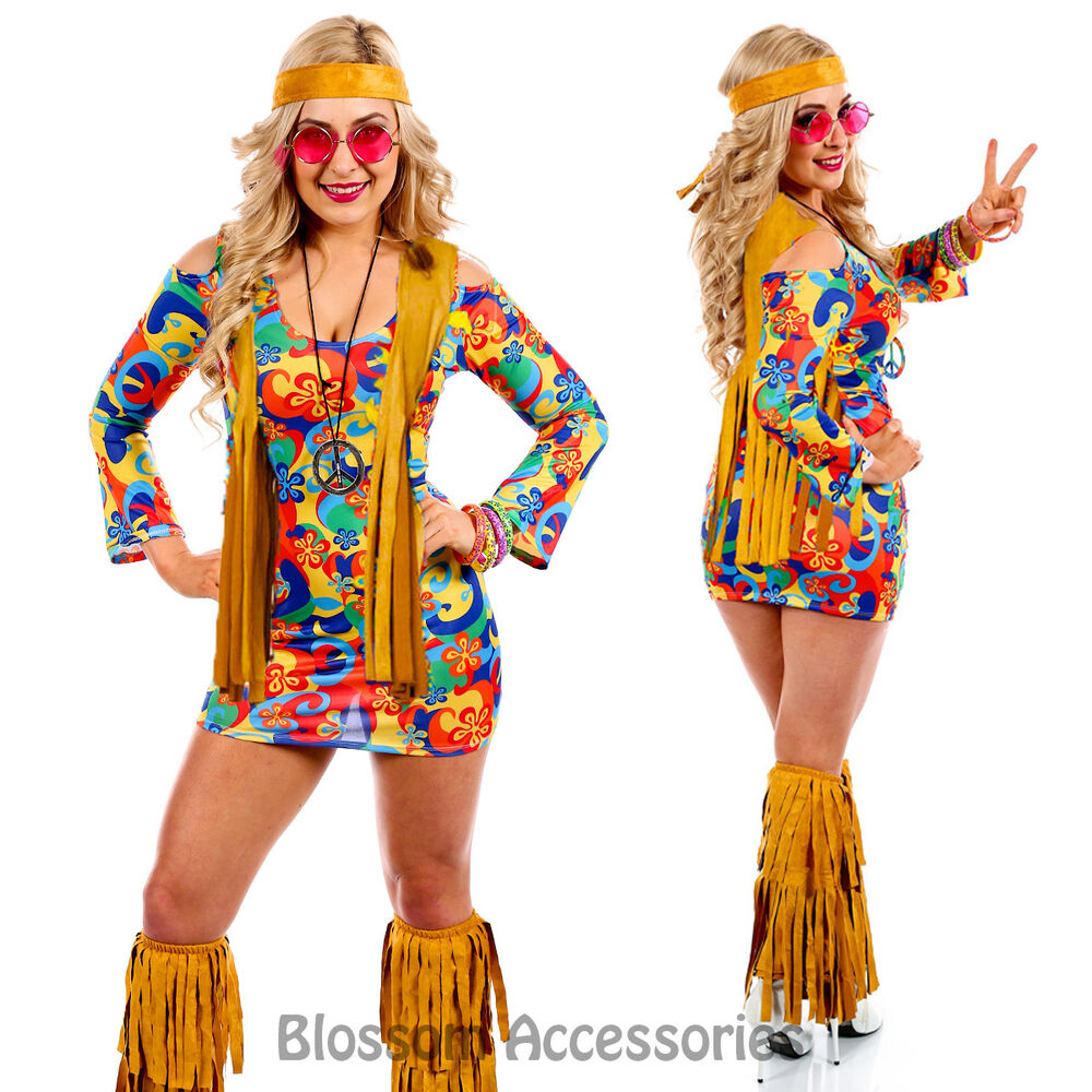 Dress Up: K13 60s 70s Go Go Retro Hippie Dancing Groovy Party Disco