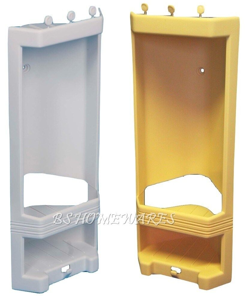 Plastic Corner Shower Caddy Rack Shelf Bathroom Storage