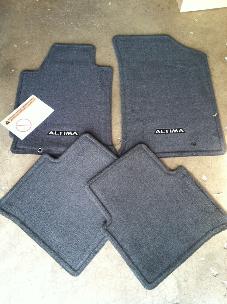 new oem 2008 2012 nissan altima black charcoal 4pc carpet. Black Bedroom Furniture Sets. Home Design Ideas