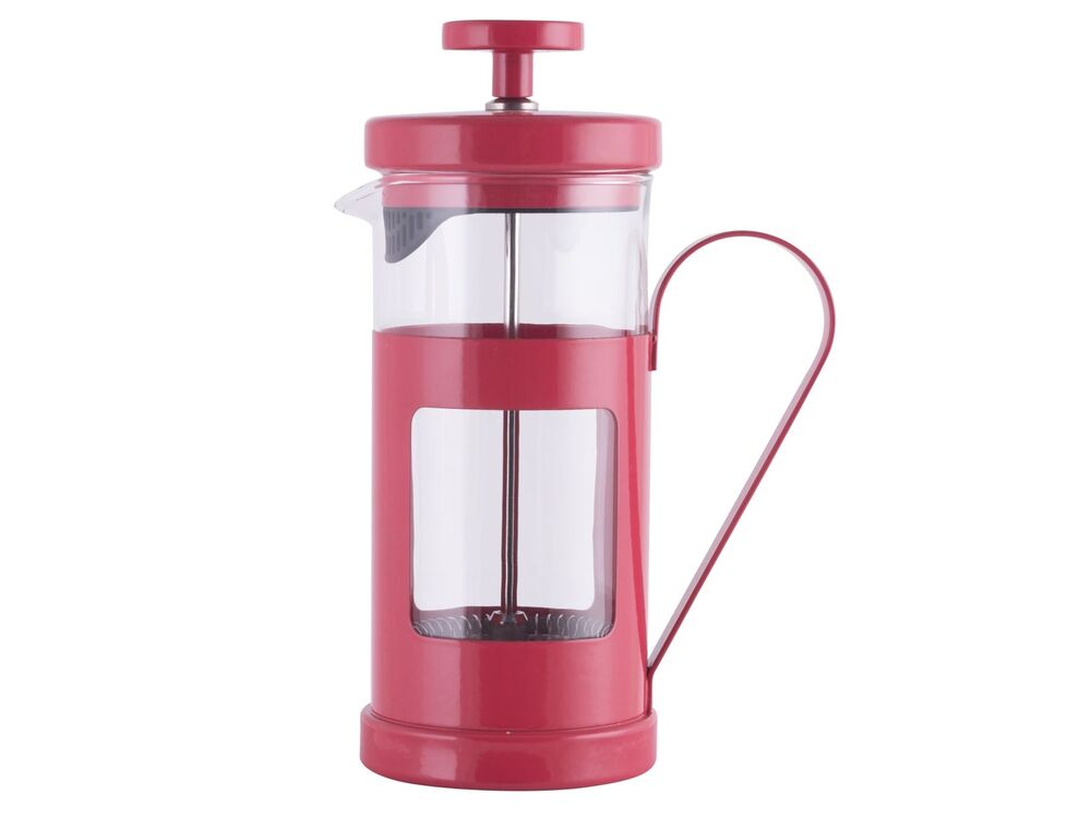 la cafetiere monaco red 8 cup french press coffee maker filter plunger ebay. Black Bedroom Furniture Sets. Home Design Ideas