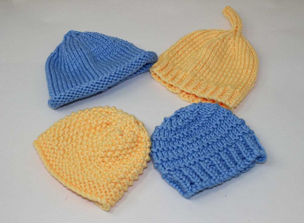 Knitting Chunky Hat : Printed knitting instructions easy design chunky baby