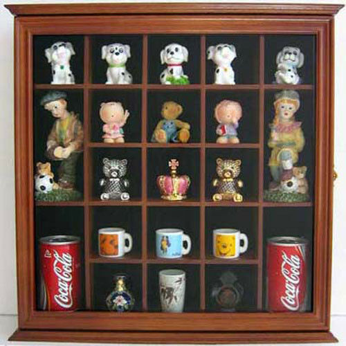 wall display case wall cabinet shadow box for small collectibles cd10 ebay. Black Bedroom Furniture Sets. Home Design Ideas