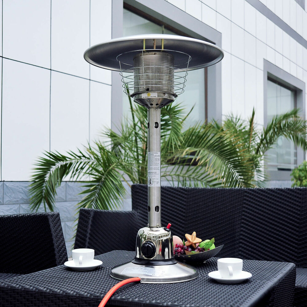 Outdoor Coffee Table Heater: New Table Top Gas Patio Heater Stainless Steel Outdoor