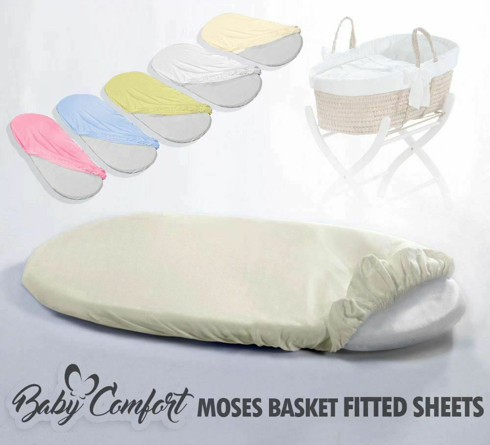 MOSES BASKET FITTED SHEET / BABY TERRY / TOWELLING OVAL