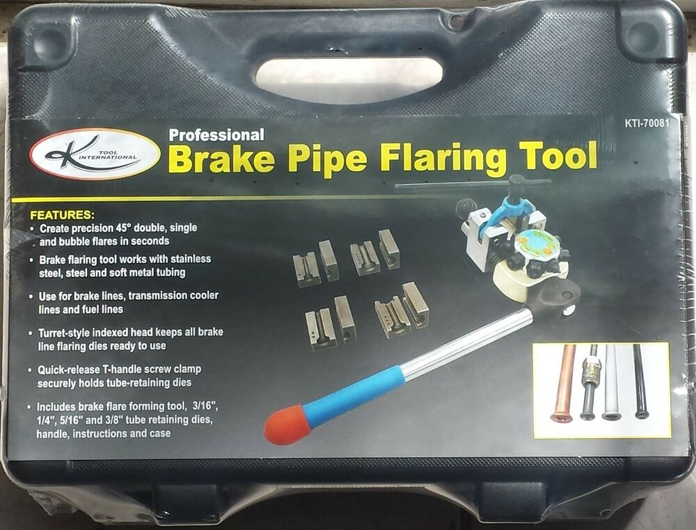 Inline Flaring Tool : K tool lever style brake line flaring single double