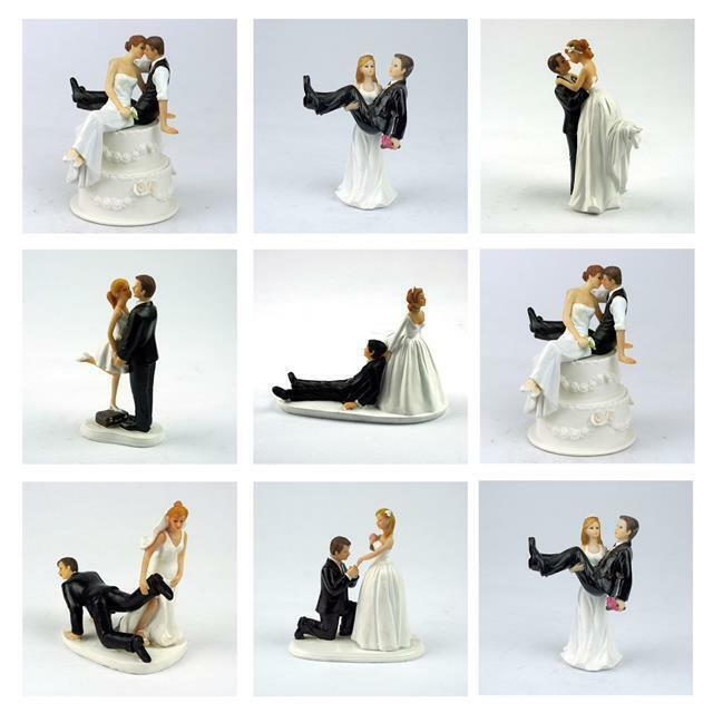 wedding cake topper figurines uk and groom figure wedding cake toppers painted 26321