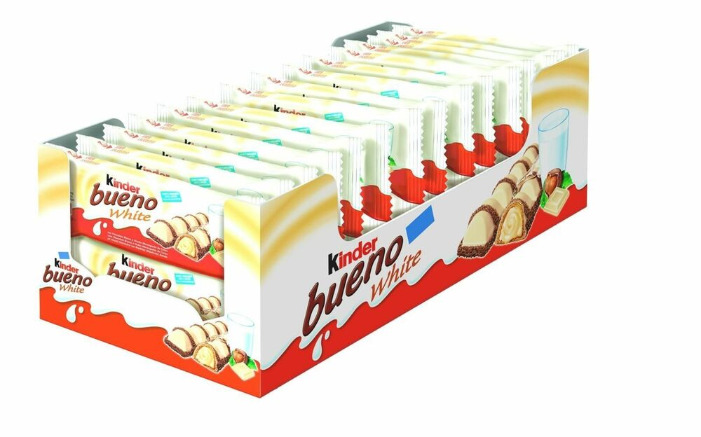 kinder bueno white 2 bar 30 packets 43g x 30 packets full. Black Bedroom Furniture Sets. Home Design Ideas