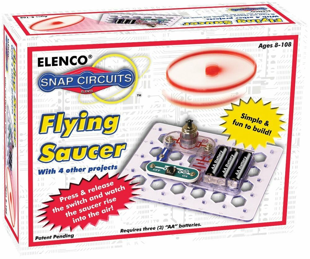 Snap Circuits Scp 09 Flying Saucer Kit Ebay Basic Electronics Toys For Kids Jr Sc 100