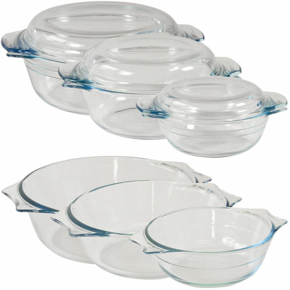 glass casserole dishes and lids pyrex arcuisine small large ebay. Black Bedroom Furniture Sets. Home Design Ideas