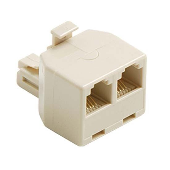 eagle 2 way telephone splitter ivory 6 wire phone adapter