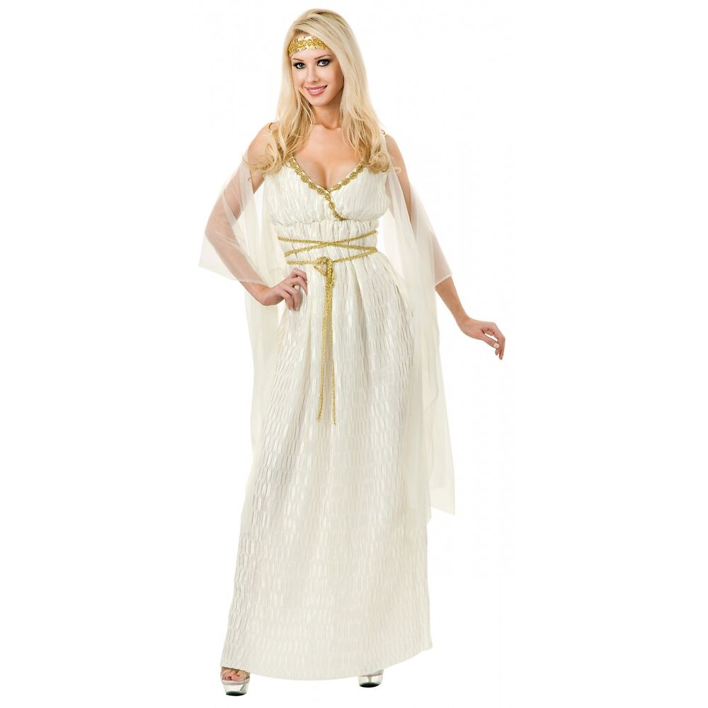 Greek Goddess Costume Adult Halloween Fancy Dress | eBay