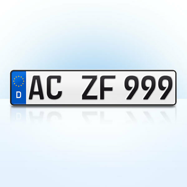 1 stk kfz kennzeichen nummernschild f r ihren pkw anh nger fahrradtr ger ebay. Black Bedroom Furniture Sets. Home Design Ideas
