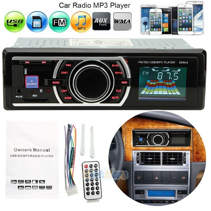Car Audio Stereo In-Dash FM Aux Input Receiver W/ SD USB