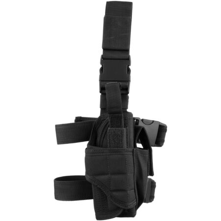 img-CONDOR MILITARY TORNADO TACTICAL LEG HOLSTER PISTOL MAG POUCH RIGHT HAND BLACK