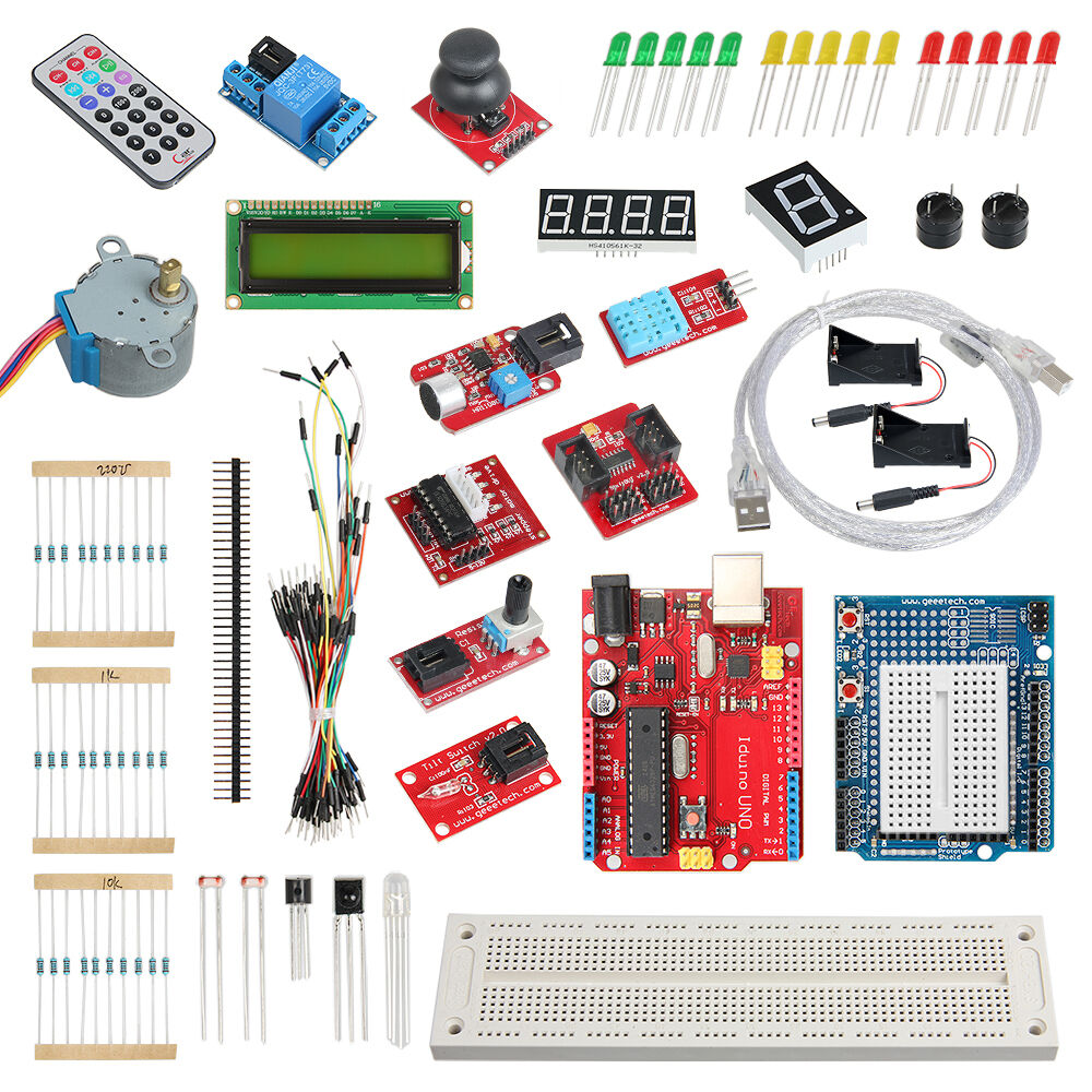 Starter kit iduino uno lcd breadboard led remote