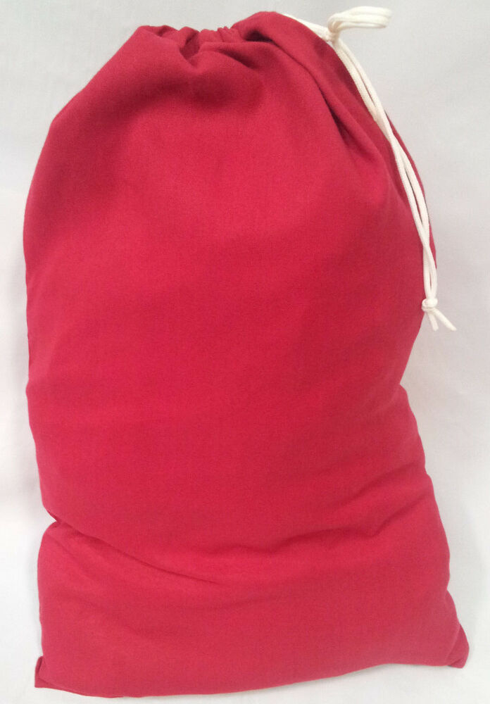 Heavy Duty 20x30 Canvas Laundry Bag Red Made In Usa