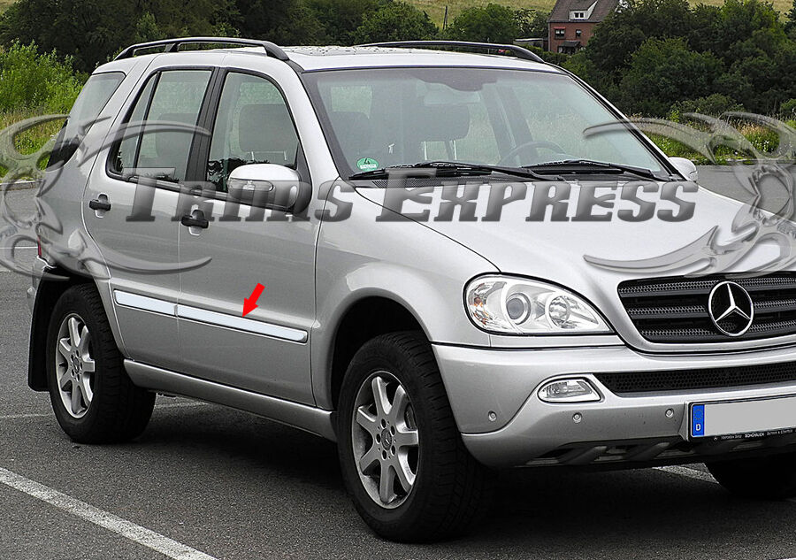 1998 2005 mercedes benz ml350 ml430 4pc chrome overlay for Mercedes benz chrome accessories