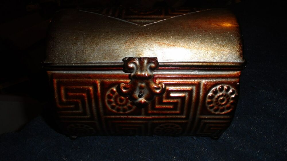 Decorative Metal Boxes With Lids : Decorative metal trinket boxes various sizes colors with