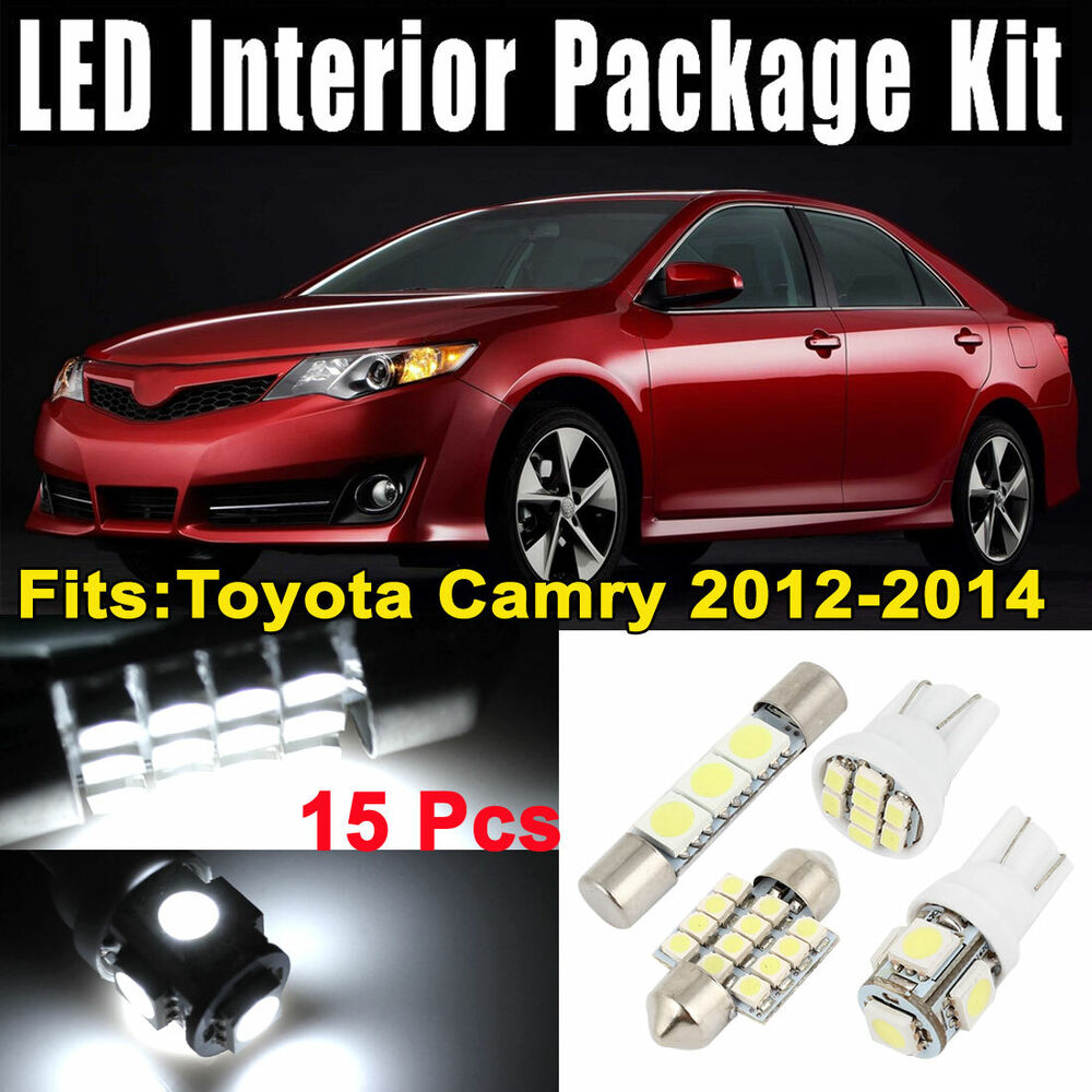 15xdome white led lights interior package kit for toyota camry 2012 2014 ebay