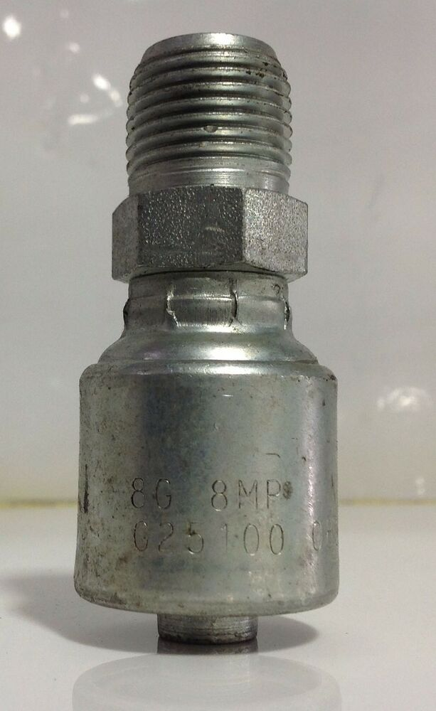 Gates Male Hydraulic Hose Coupling 1 2 Quot G251000808 8g 8mp