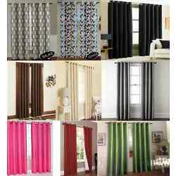 FAUX SILK LINED BLACKOUT GROMMET 2 PANEL WINDOW CURTAIN DRAPES ENERGY SAVING SSS