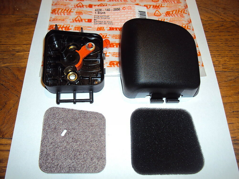 Stihl hs45 hedge cutter air filter housing complete filter for Taille haie 4 en 1 stihl