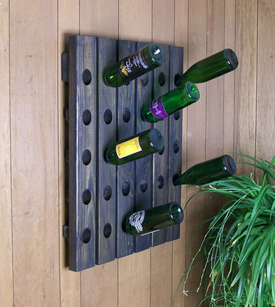 Unique Wine Riddling Rack 30 Bottle Hand Crafted Wall