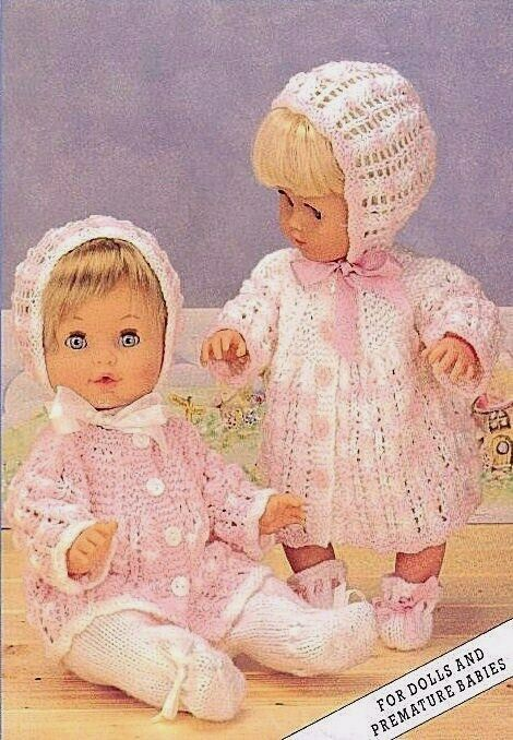 Free Knitting Patterns For Dolls Prams : BABY DOLLS CLOTHES 12-20