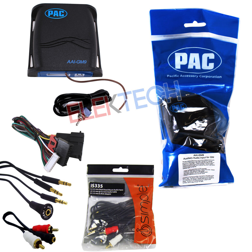 Pac Aai Gm9 Auxiliary Input Interface Module W Rca Cable Extender Converter Wiring Diagram Dock For Gm 606523105712 Ebay