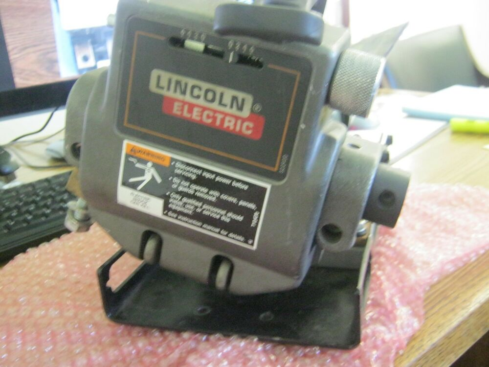 Lincoln electric model 10944 power feed wire feeder ebay for Lincoln welder wire feed motor
