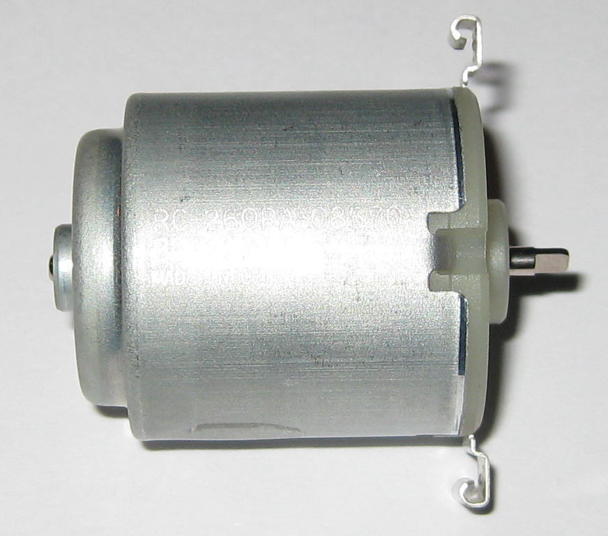 Mabuchi rc 260ra dc motor 12 vdc 8 000 rpm short for Low rpm motor dc