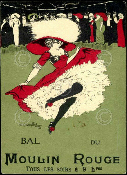 Bal du Moulin Rouge by Vintage Poster Paris France Print ...