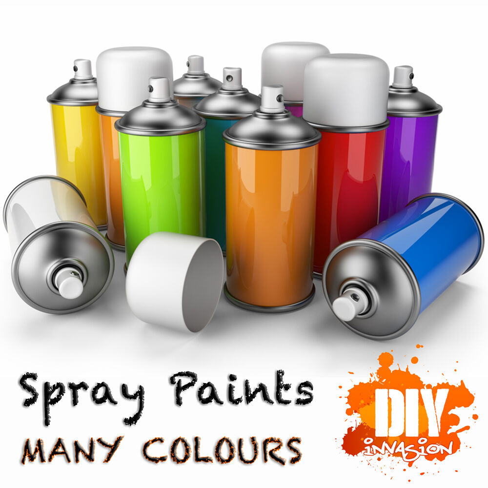 Spray Paint Cans Many Colours Black White Chrome