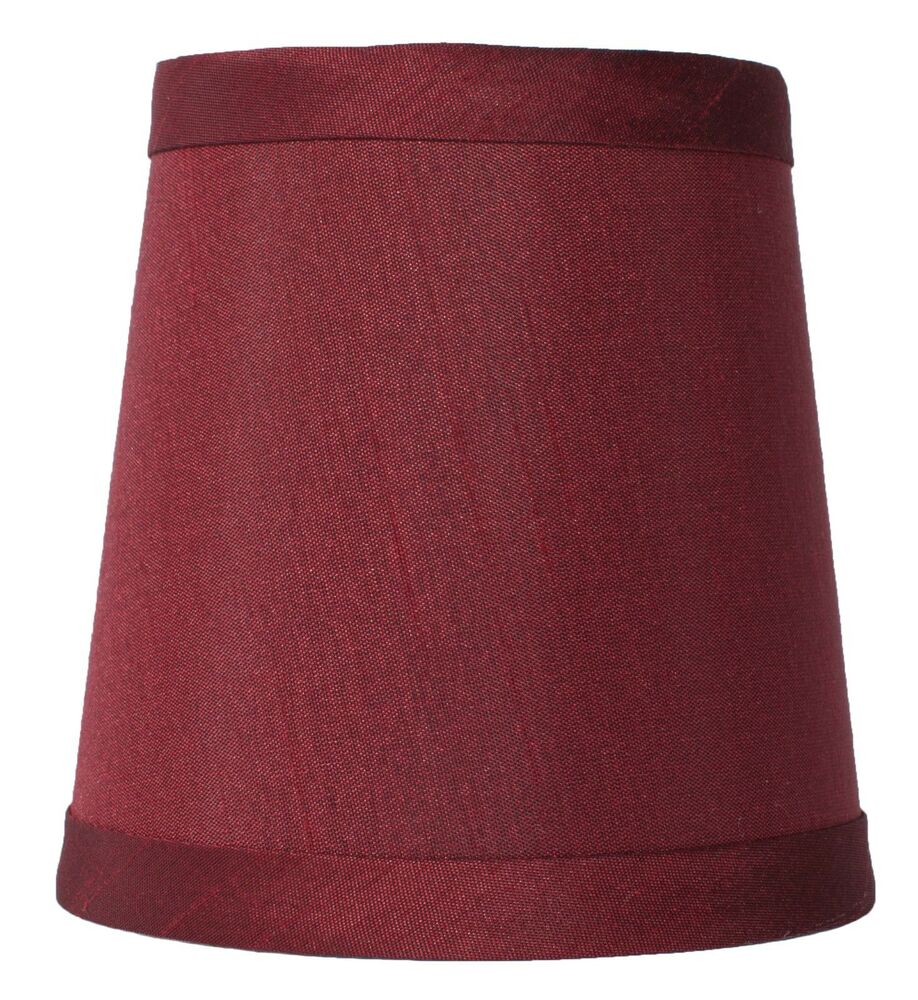 burgundy mini chandelier lamp shade 4 inch hardback clip on ebay. Black Bedroom Furniture Sets. Home Design Ideas