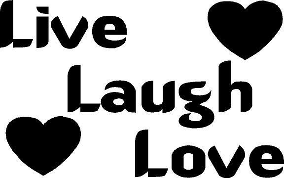 Live Laugh Love With Hearts Vinyl Decal Sticker