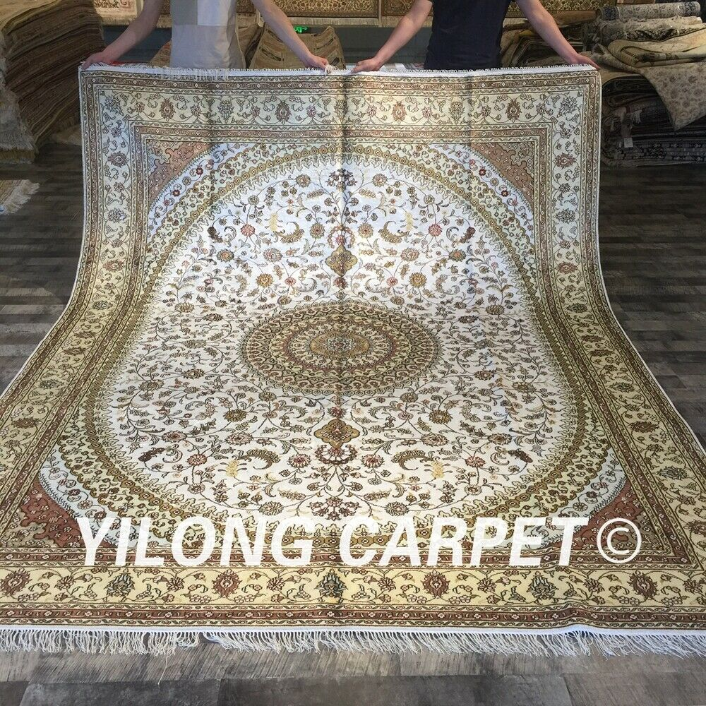 8 X10 Large Persian Carpets Silk Hand Knotted Handmade