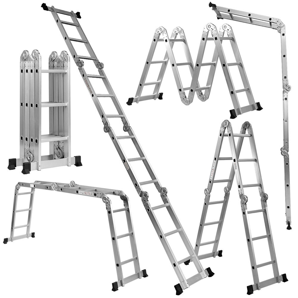 Metal Scaffolding Ladders : Ft en lb multi purpose step platform aluminum