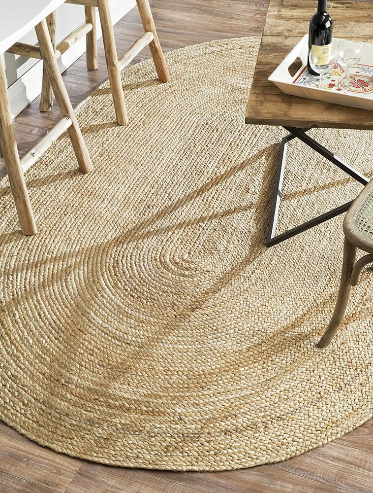 100 Jute Oval 3 Great Sizes American Braided Style Rug