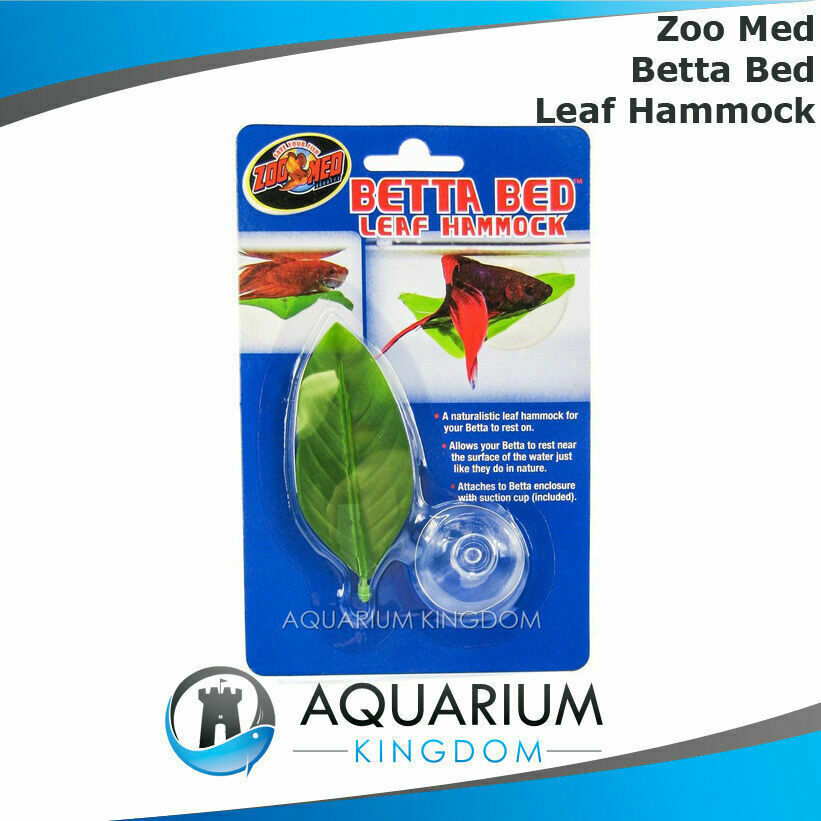 Zoo Med Betta Bed Leaf Hammock Allows Fighting Fish To