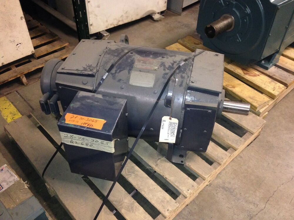 Ge 150hp dc motor 1750 rpm 550vdc cd407aty frame used for 150 hp dc electric motor