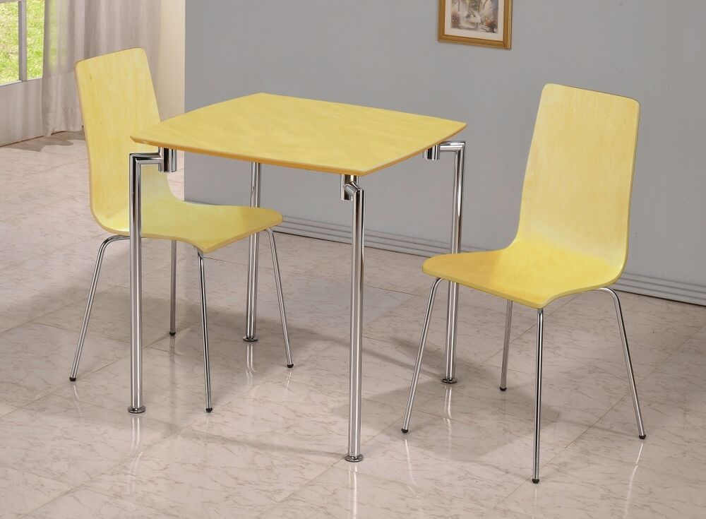 fiji small dining set in beech chrome table and 2 chairs ebay