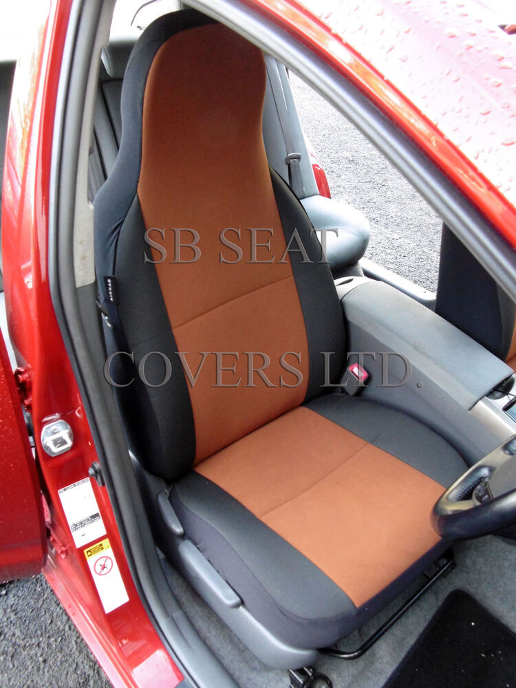 land rover defender car seat covers tan suede two fronts only ebay. Black Bedroom Furniture Sets. Home Design Ideas