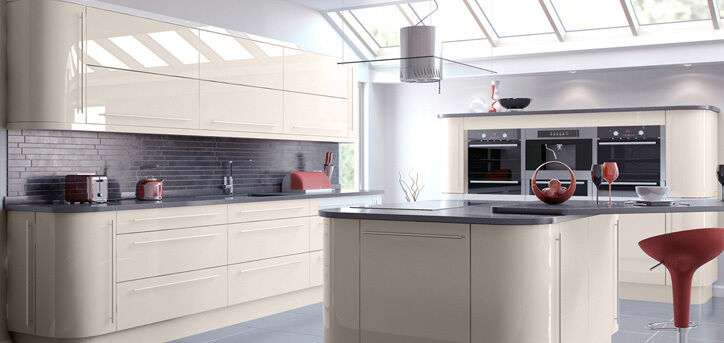 Replacement kitchen door fascia various sizes gloss for Gloss kitchen designs