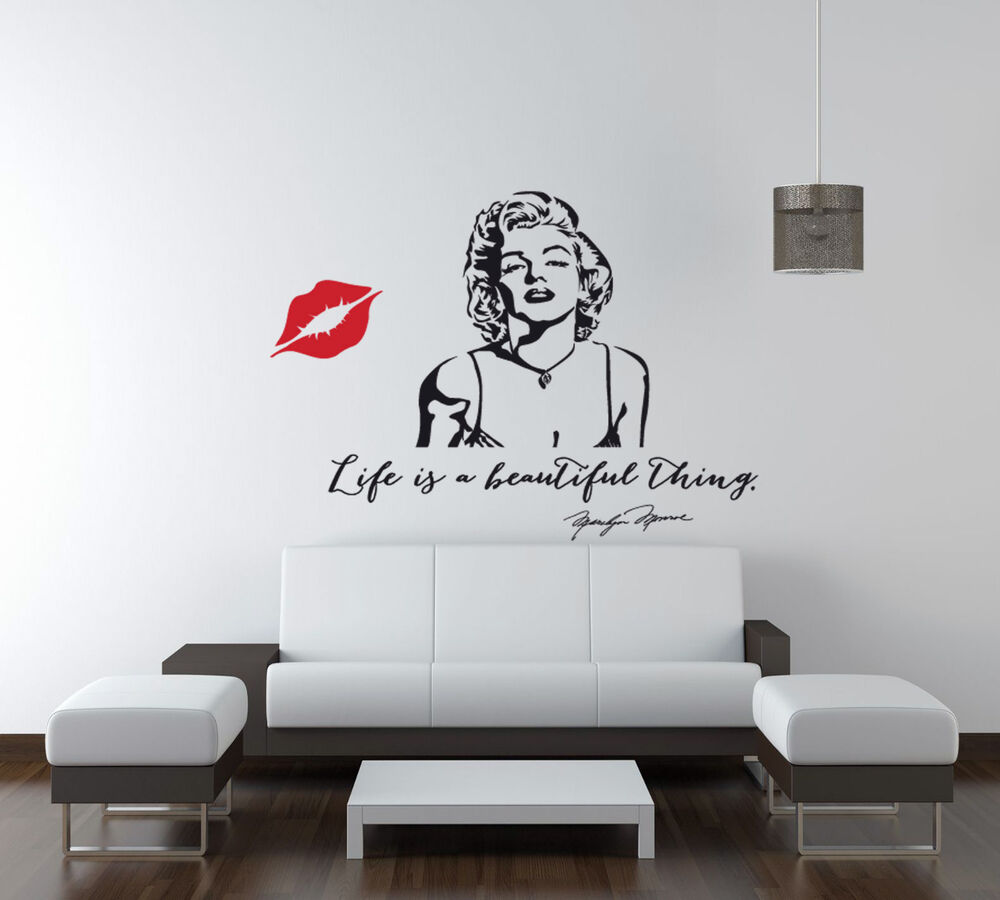 Life Is A Beautiful Marilyn Monroe Quote Vinyl Wall Art