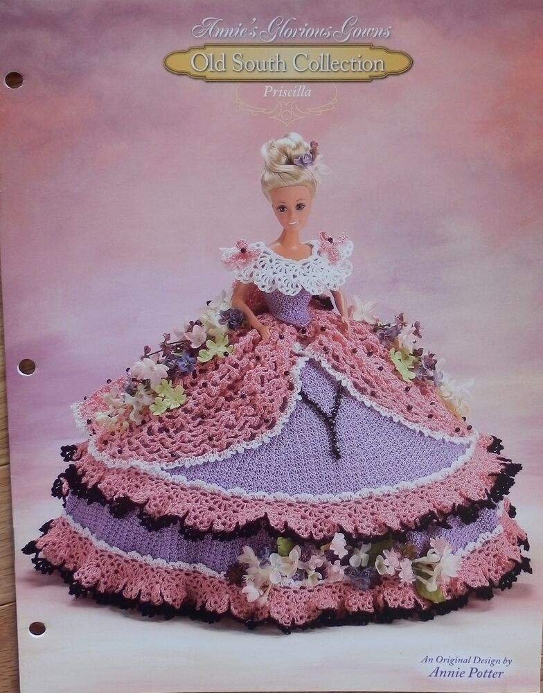 Annie Attic Crochet Free Patterns : Annies Attic Old South Glorious Gown Priscilla Crochet Bed Doll ...